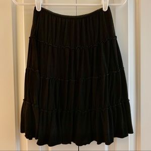 Old Navy Black Tiered Lined Skirt Size XS